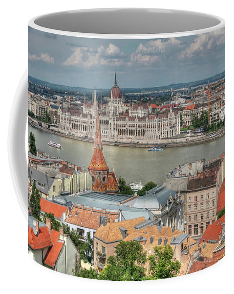 Budapest Coffee Mug featuring the photograph Budapest Overview by Doug Matthews