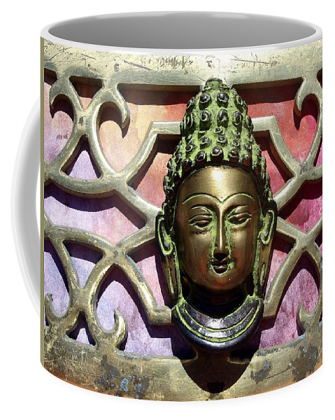 Buddha Still Life Oversize Canvas Print Coffee Mug featuring the photograph Buddha - Heavy Metal by Betty Pehme