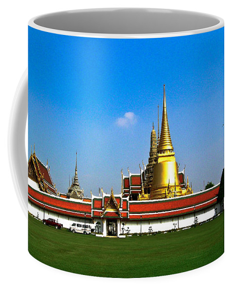 Buddha Coffee Mug featuring the photograph Buddhaist Temple by Douglas Barnett