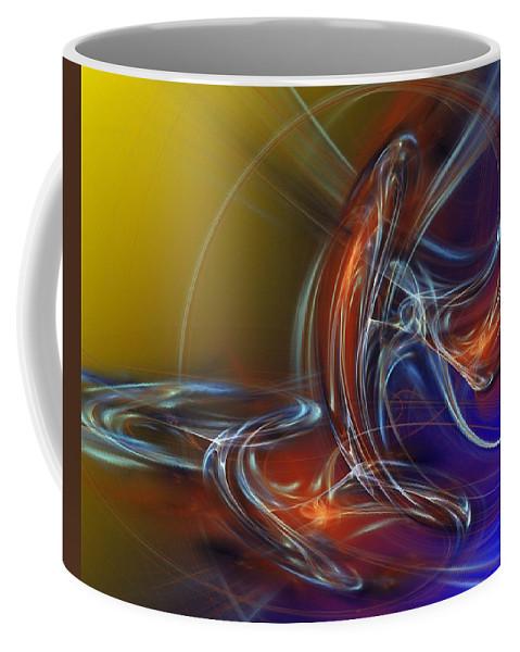 Fine Art Coffee Mug featuring the digital art Buddhist Protest by David Lane