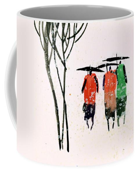 People Coffee Mug featuring the painting Buddies 3 by Anil Nene