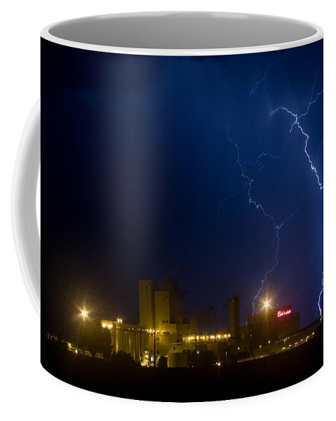 Lightning Coffee Mug featuring the photograph Budweiser Storm by James BO Insogna