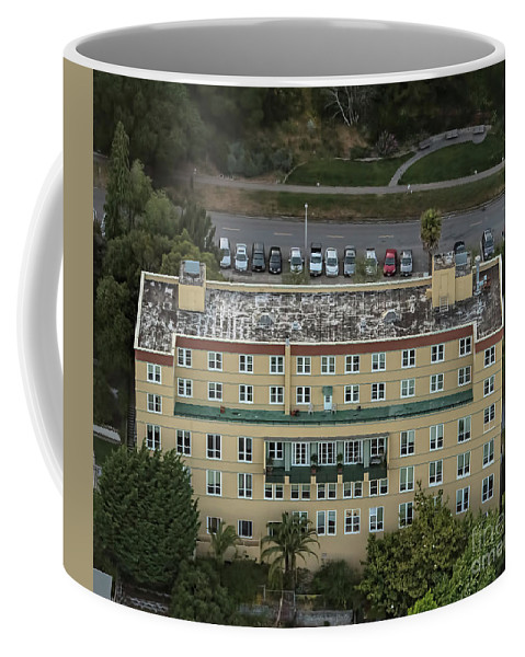 Aerial Coffee Mug featuring the photograph Buena Vista Manor House In San Francisco by David Oppenheimer