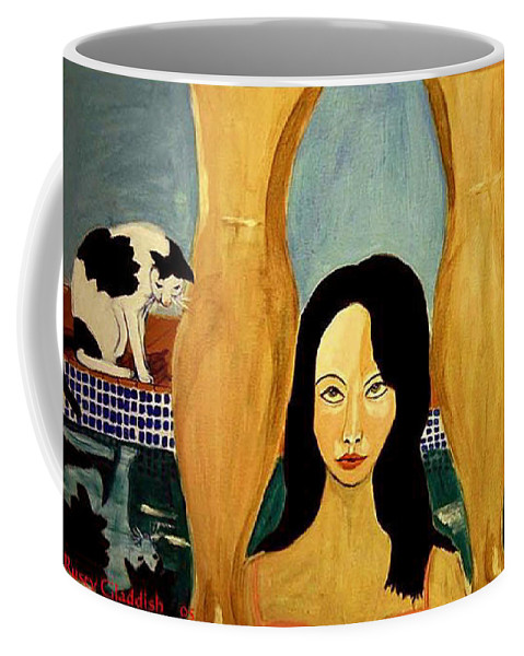 Cat Coffee Mug featuring the painting Buena Vista by Rusty Gladdish