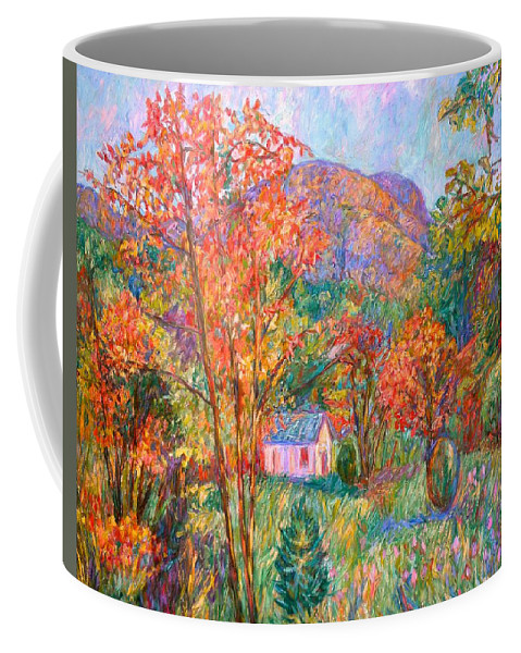 Landscape Coffee Mug featuring the painting Buffalo Mountain In Fall by Kendall Kessler