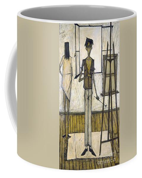 1948 Coffee Mug featuring the photograph Buffet: Artist, 1948 by Granger