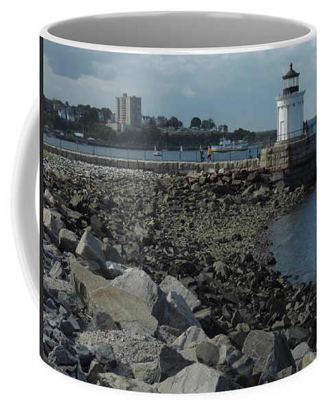 Color Coffee Mug featuring the photograph Bug Light by Bill Tomsa