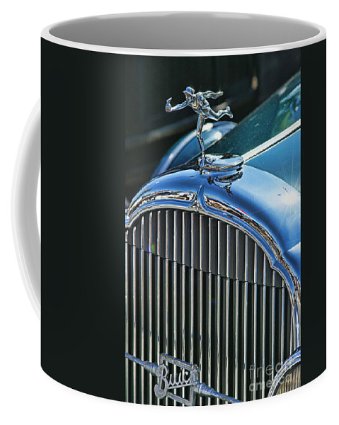 Cars Coffee Mug featuring the photograph Buick Grill And Hood Ornament by Randy Harris