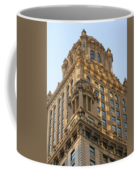 Building Coffee Mug featuring the photograph Building Chicago by Diane Greco-Lesser