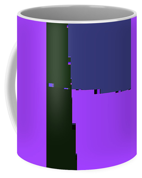 Abstract Coffee Mug featuring the digital art Buildings Abstract by Lenore Senior