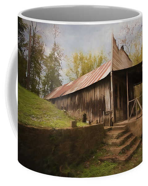 Grist Coffee Mug featuring the photograph Built In The Berm by Jonas Wingfield