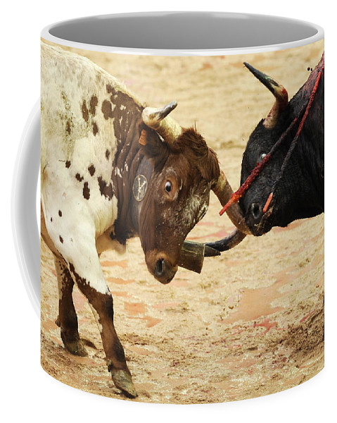 Spain Coffee Mug featuring the photograph Bull Fight by Rafa Rivas