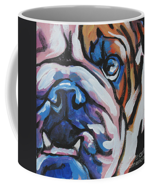 Bulldog Coffee Mug featuring the painting Bulldog Baby by Lea S