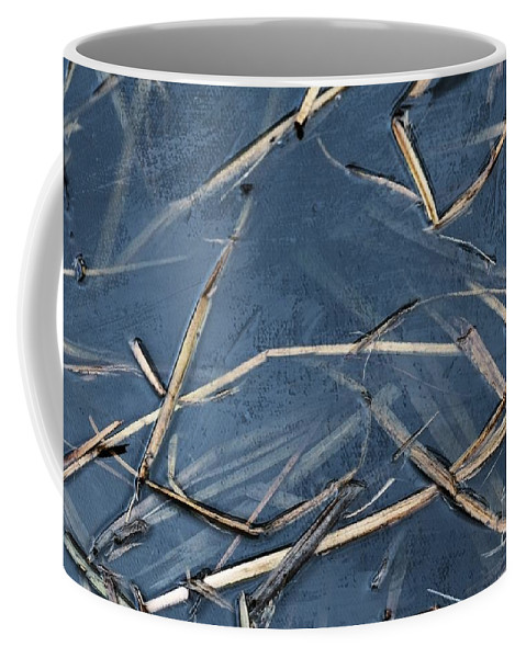 Lake Coffee Mug featuring the photograph Bulrush Stalks by Dariusz Gudowicz