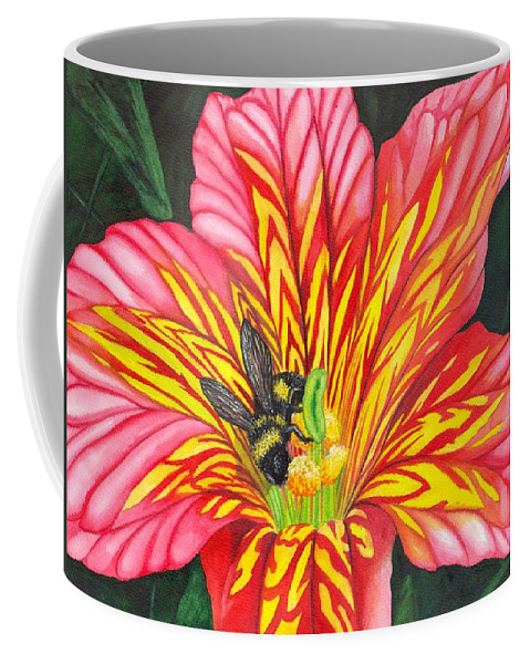 Bee Coffee Mug featuring the painting Bumble Bee by Catherine G McElroy
