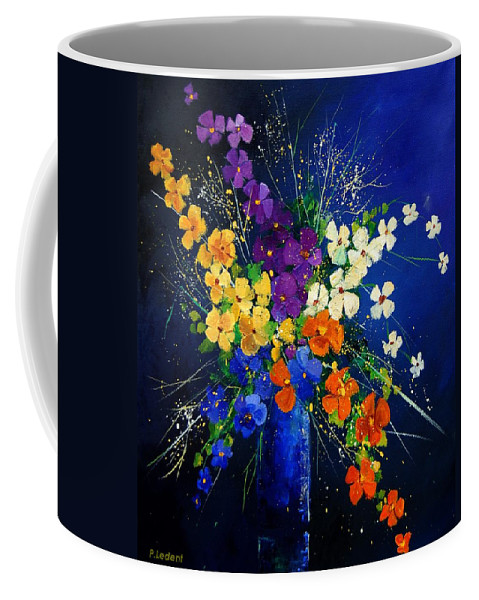 Poppies Coffee Mug featuring the print Bunch 0408 by Pol Ledent