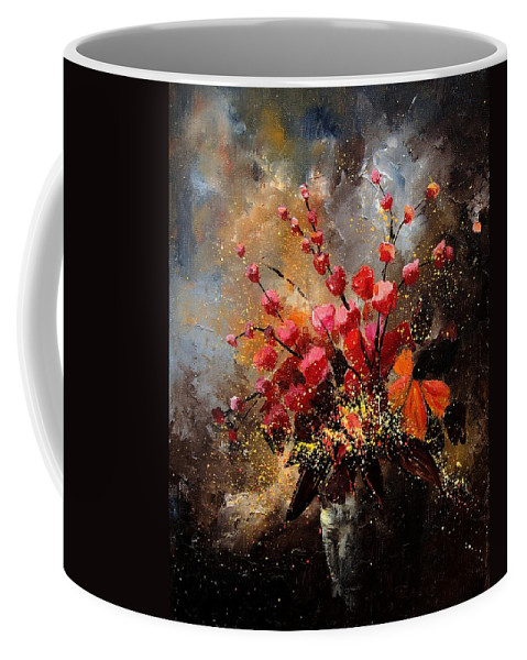 Poppies Coffee Mug featuring the painting Bunch 1207 by Pol Ledent