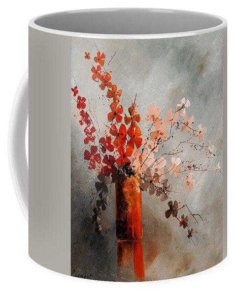 Flowers Coffee Mug featuring the painting Bunch 670908 by Pol Ledent