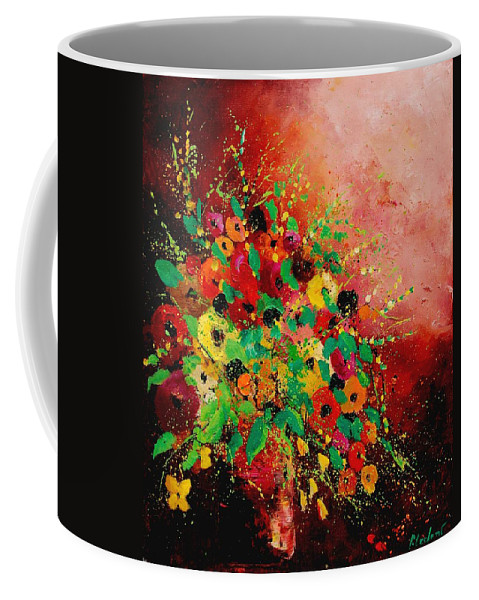 Flowers Coffee Mug featuring the painting Bunch of flowers 0507 by Pol Ledent