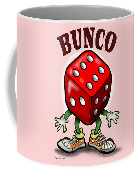 Bunco Coffee Mug featuring the greeting card Bunco by Kevin Middleton