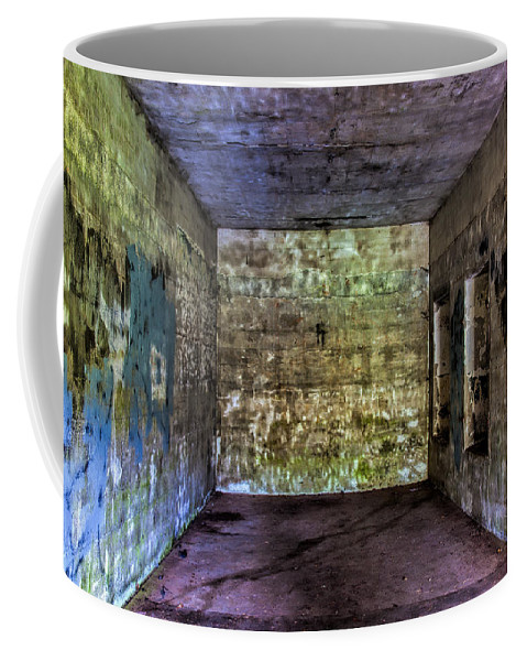 Oregon Coffee Mug featuring the photograph Bunker Walls by Diana Powell