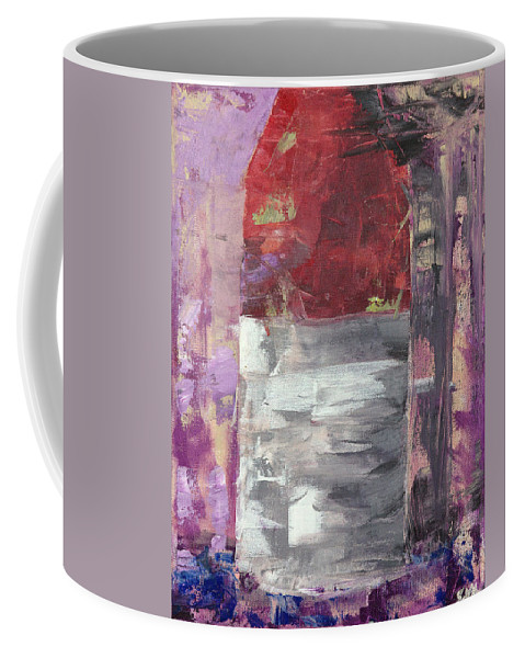 Abstract Coffee Mug featuring the painting Buoy Study by Jonathan Hanks