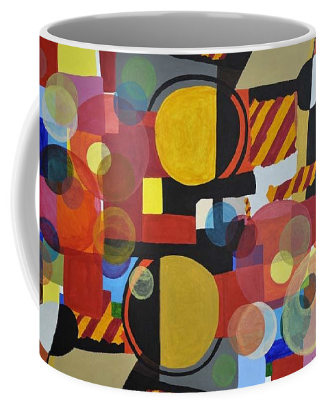Abstract Art Coffee Mug featuring the painting Burbujas by Steve Walmsley