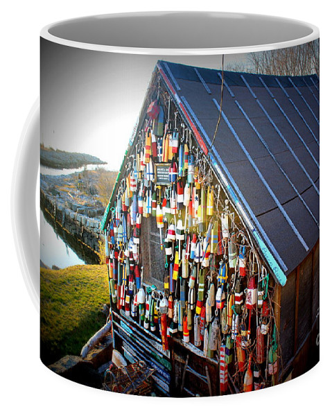Bouys Coffee Mug featuring the photograph Burgeoning With Bouys by Hanni Stoklosa