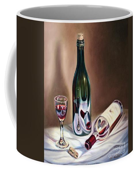 Wine Coffee Mug featuring the painting Burgundy Still by Ricardo Chavez-Mendez