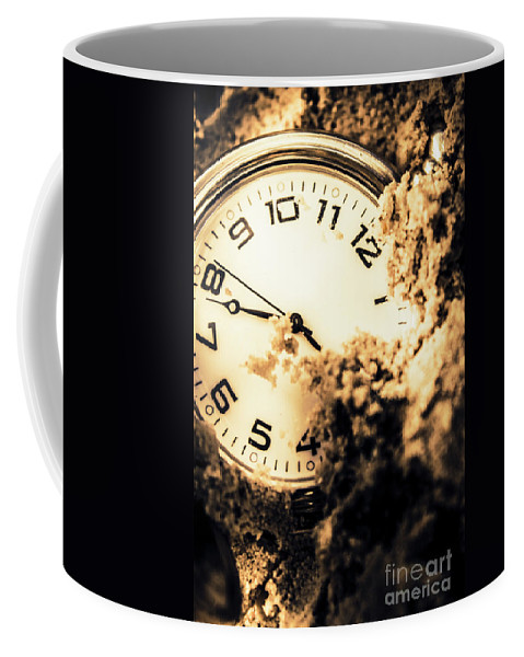 Hour Coffee Mug featuring the photograph Buried By The Hands Of Time by Jorgo Photography - Wall Art Gallery