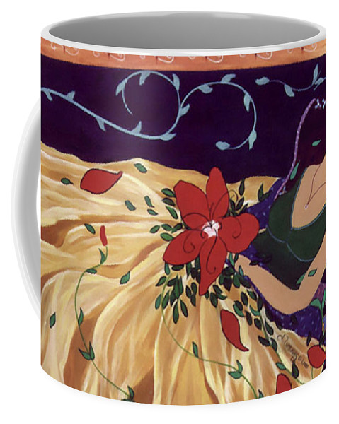 #female #figurative #painter #fineart #art #images #painting #artist #burieddreams Coffee Mug featuring the painting Buried Dreams by Jacquelinemari