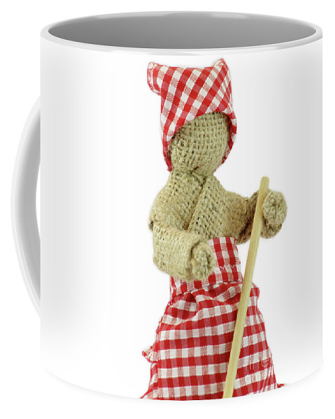 Doll Coffee Mug featuring the digital art Burlap Doll Close-up View by Daniel Ghioldi