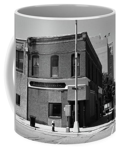 America Coffee Mug featuring the photograph Burlington, Nc - Main Street And Front by Frank Romeo