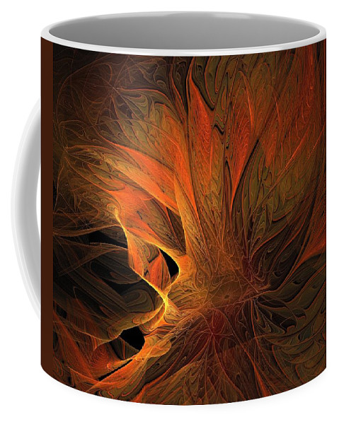 Digital Art Coffee Mug featuring the digital art Burn by Amanda Moore