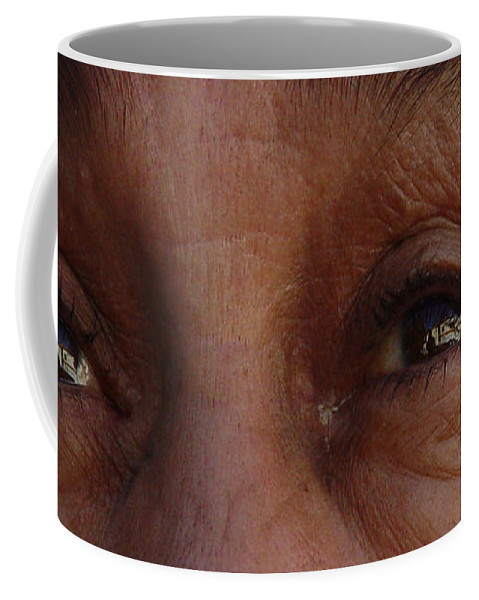Eyes Coffee Mug featuring the photograph Burned Eyes by Peter Piatt