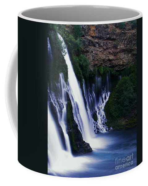 River Coffee Mug featuring the photograph Burney Blues by Peter Piatt