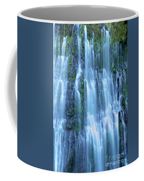 Burney Falls Coffee Mug featuring the photograph Burney Falls Mist Mcarthur Burney Sp California by Dave Welling