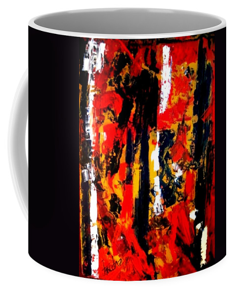 Oil Painting Coffee Mug featuring the painting Burning Bright by Fareeha Khawaja
