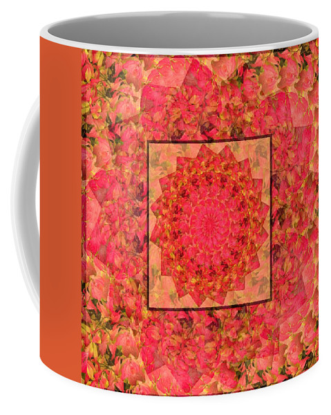 Burning Bush Floral Design Coffee Mug featuring the photograph Burning Bush Floral Design by Joy Nichols
