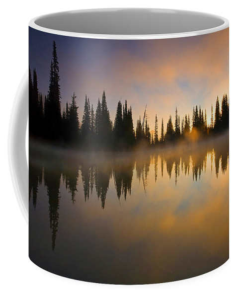 Lake Coffee Mug featuring the photograph Burning Dawn by Mike Dawson