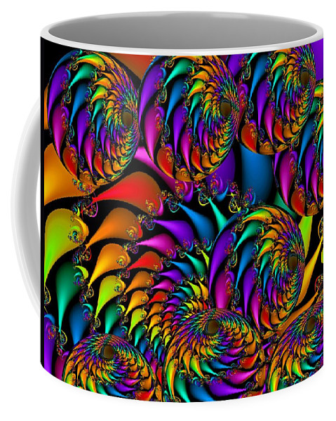 Colorful Coffee Mug featuring the digital art Burning Embers- by Robert Orinski