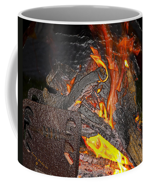Burn Coffee Mug featuring the photograph Burning by Terry Anderson