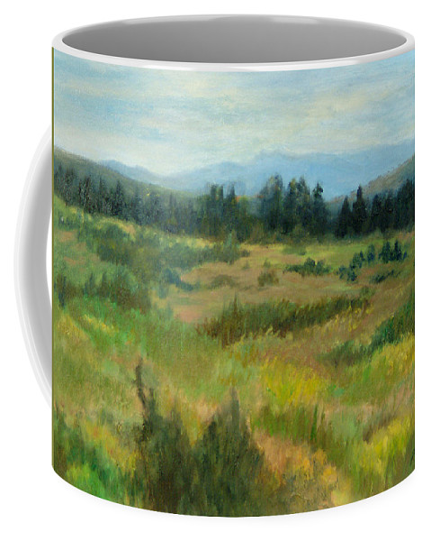 Landscape Coffee Mug featuring the painting Burnt Mesa Trail by Phyllis Tarlow