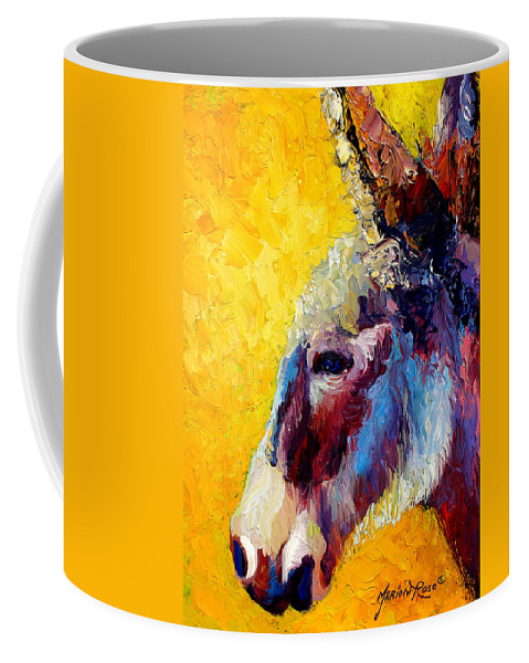 Western Coffee Mug featuring the painting Burro Study II by Marion Rose