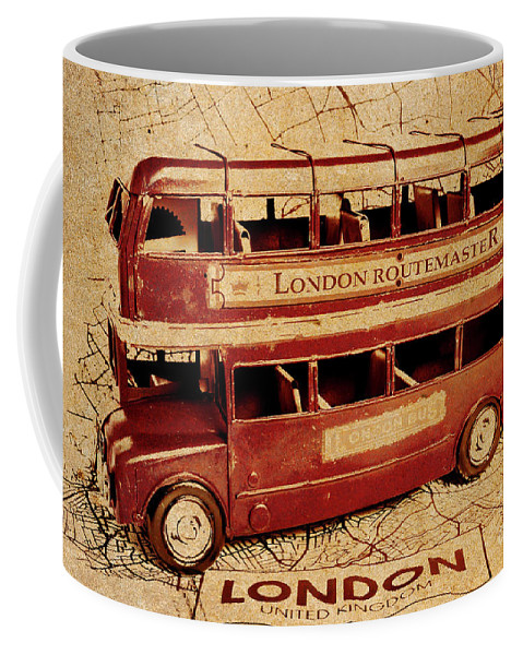 Vintage Coffee Mug featuring the photograph Buses Of Vintage England by Jorgo Photography - Wall Art Gallery