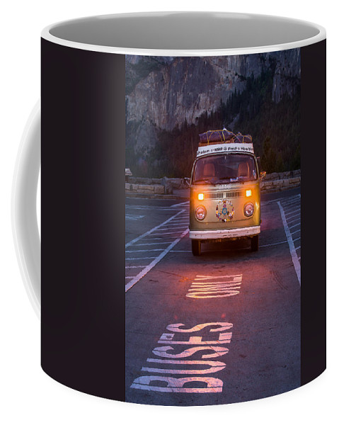 Tunnel View Coffee Mug featuring the photograph Buses Only by Richard Kimbrough