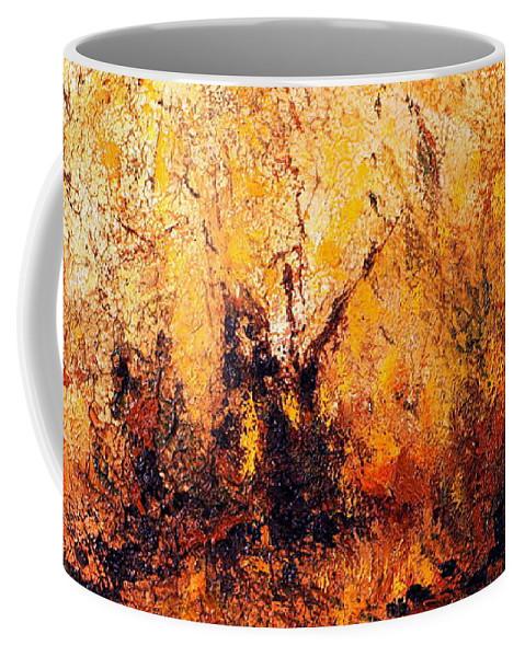 Australia Coffee Mug featuring the painting Bush Tucker 1.0 by Giro Tavitian