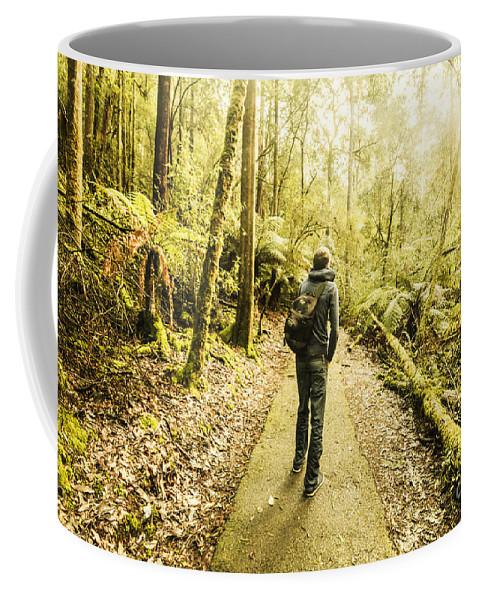 Hiker Coffee Mug featuring the photograph Bushwalking Tasmania by Jorgo Photography - Wall Art Gallery