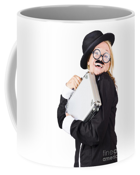 Funny Coffee Mug featuring the photograph Business Woman In Disguise by Jorgo Photography - Wall Art Gallery