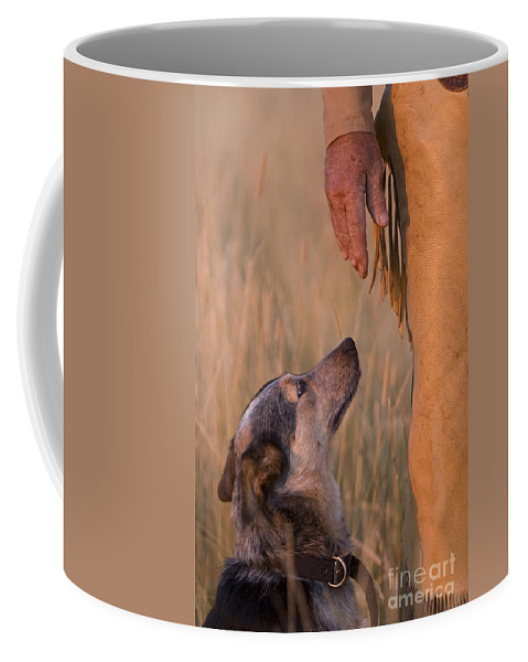 Cowboy Coffee Mug featuring the photograph Buster And Dawg by Carol Walker